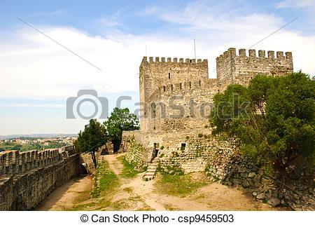 Stock Photos of Castle, Leiria, Portugal.