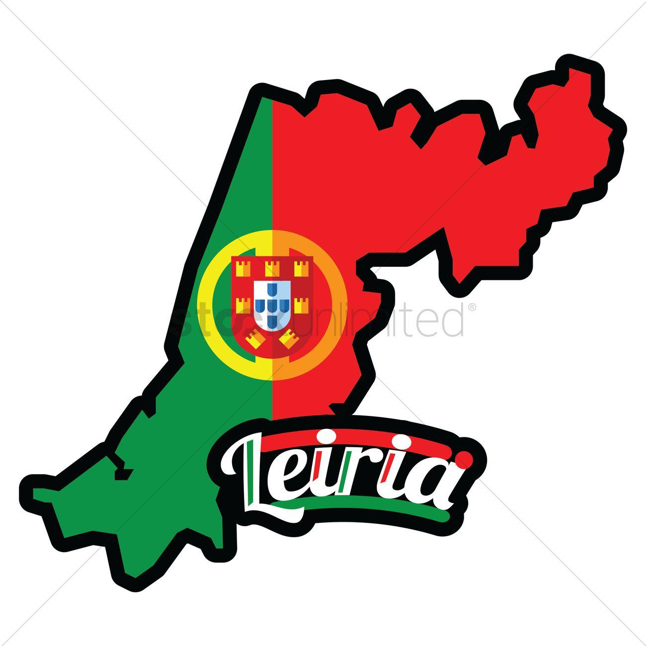 Leiria map Vector Image.