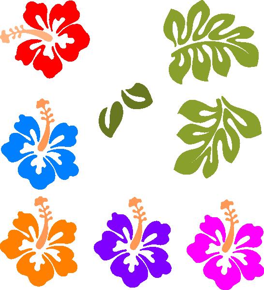 Flower Leis From Hawaii Clip Art.