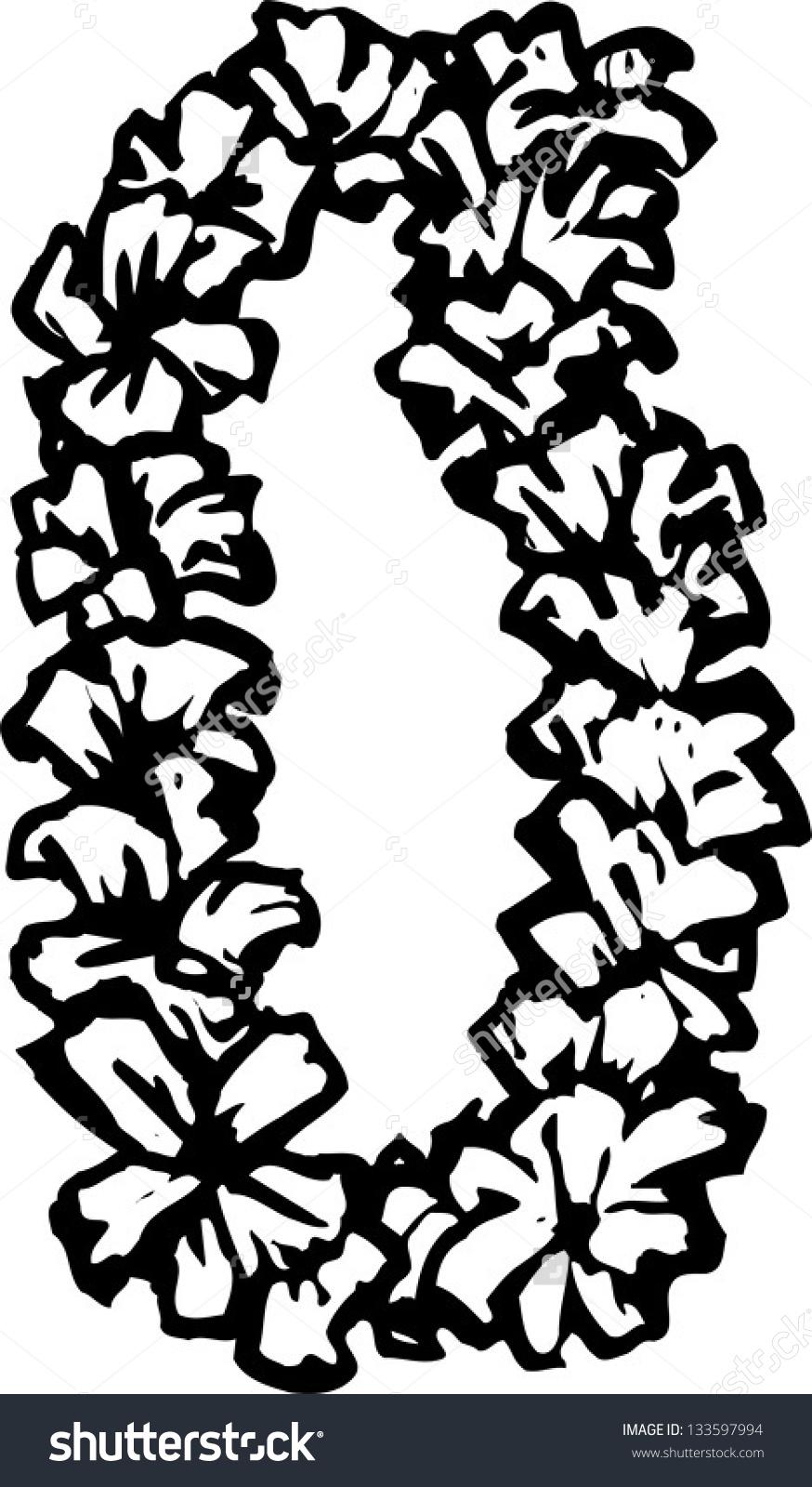 Hawaiian Leis Clip Art Head.