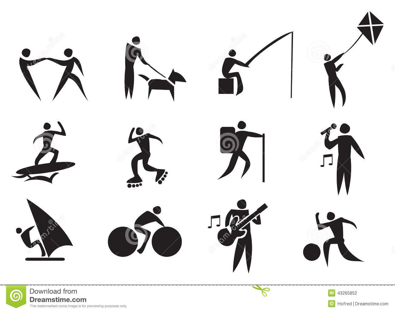 Leisure Activities Clip Art.