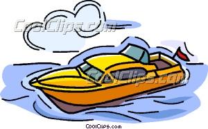 Leisure boat Clip Art.