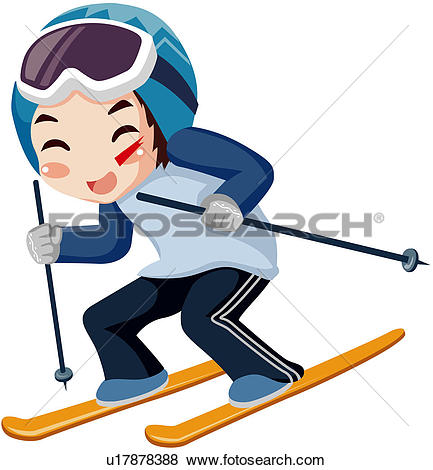 Clip Art of recreation, season, well being, leisure activity.