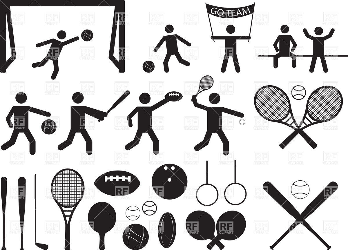 Sport pictograms.