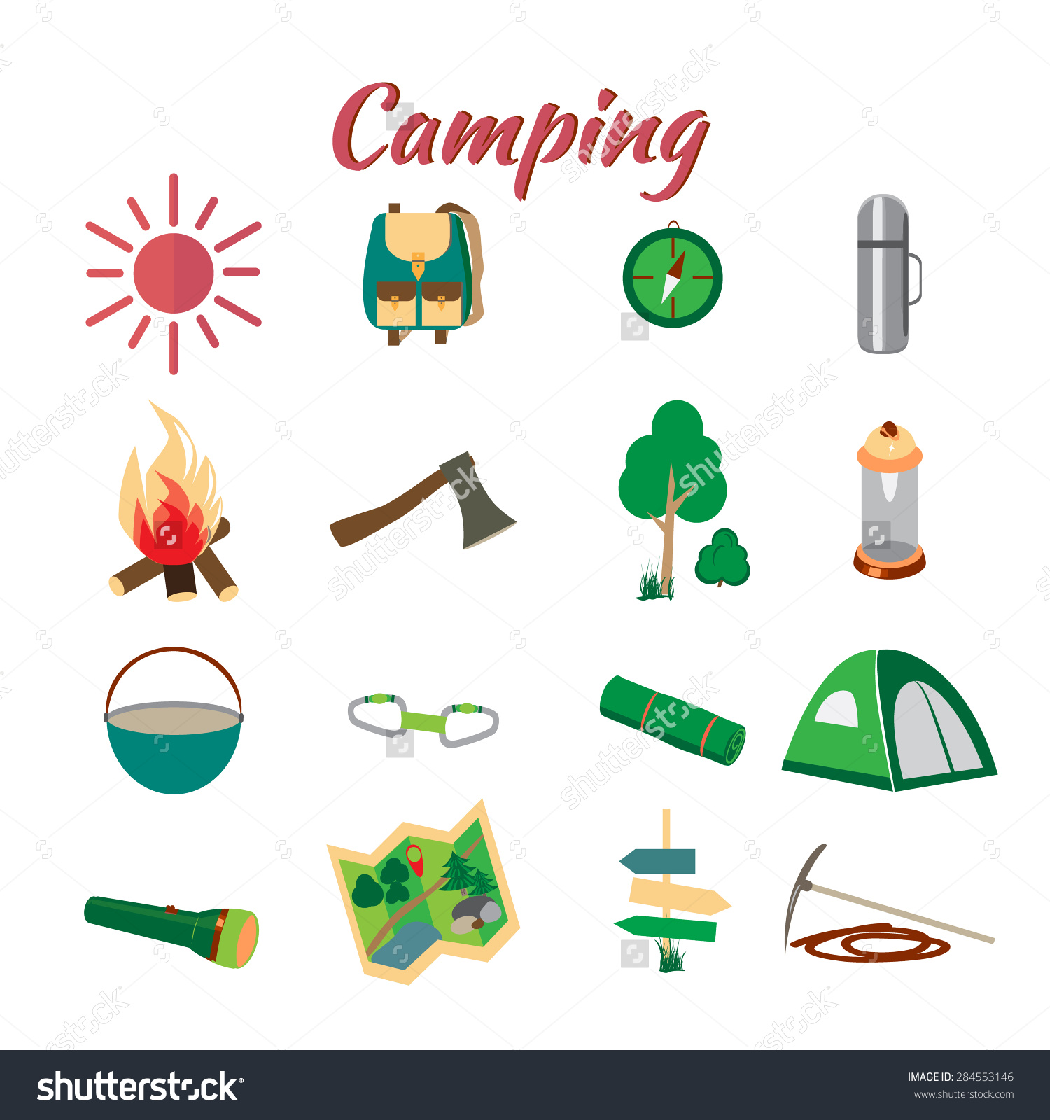 Summer Camp Leisure Park Summer Camp Stock Vector 284553146.