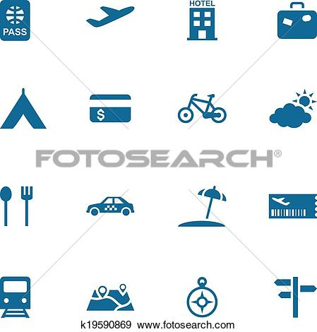 Clip Art of Travel, leisure and tourism icon se k19590869.