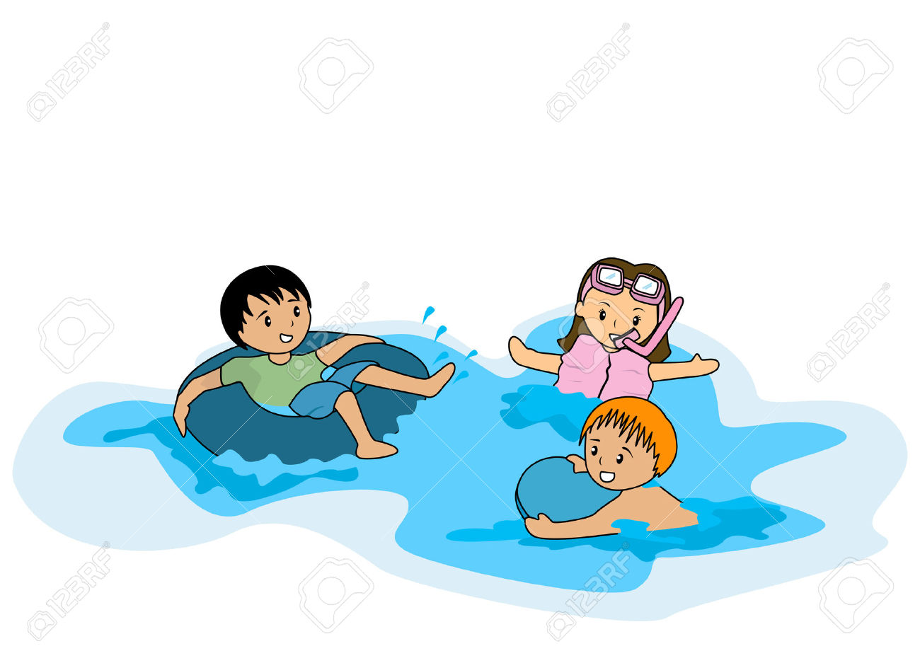 Illustration Of Kids Swimming Royalty Free Cliparts, Vectors, And.