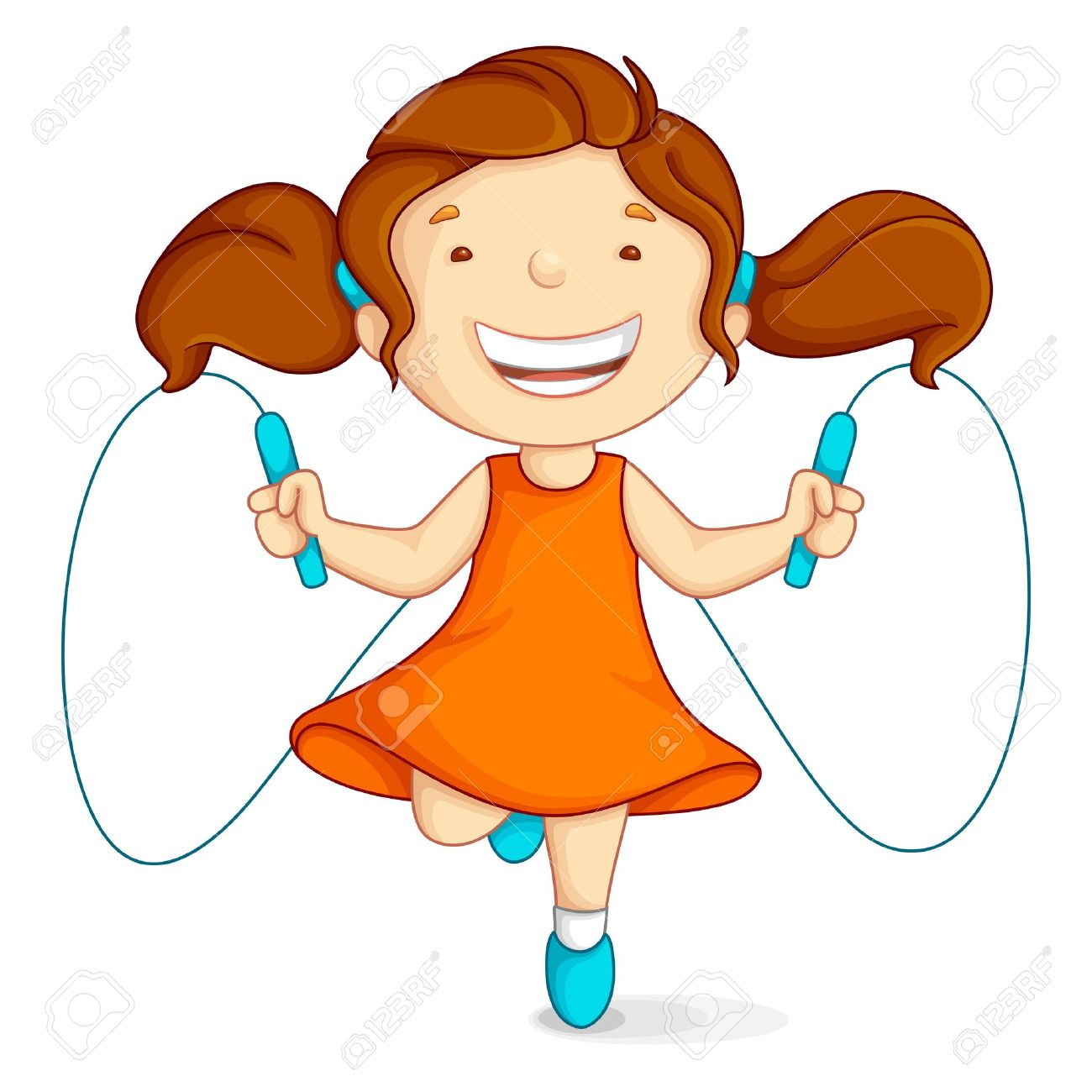 Rope skipping clipart.