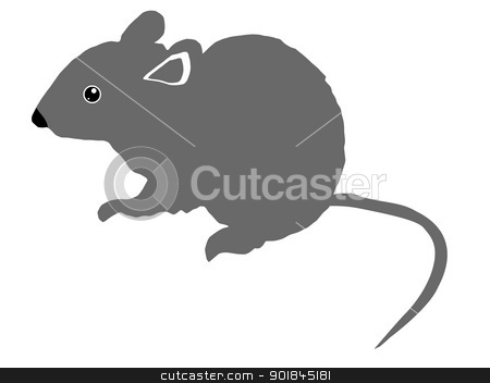 Grey Mouse Clipart.