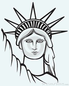 Statue of liberty head clipart.