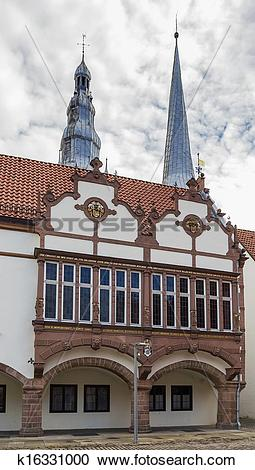 Stock Photography of historical houses in Lemgo, Germany k16331000.
