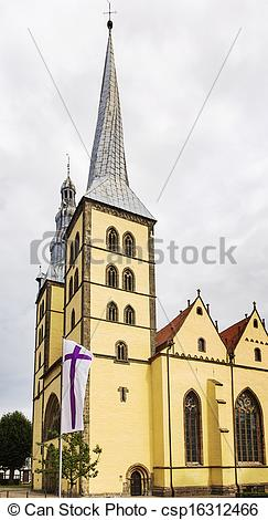 Stock Image of St Nicholas church in Lemgo, Germany.