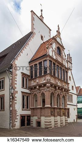 Stock Photograph of town hall of Lemgo, Germany k16347549.