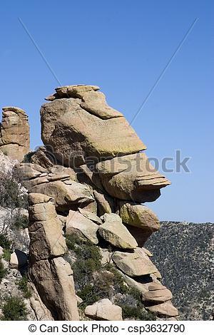 Stock Photography of Rock Head Mt. Lemmon.