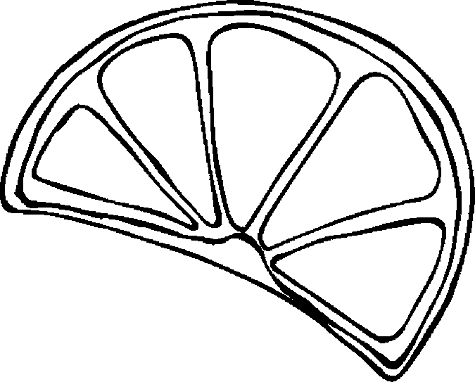 Lemon Slice Clip Art Black And White.