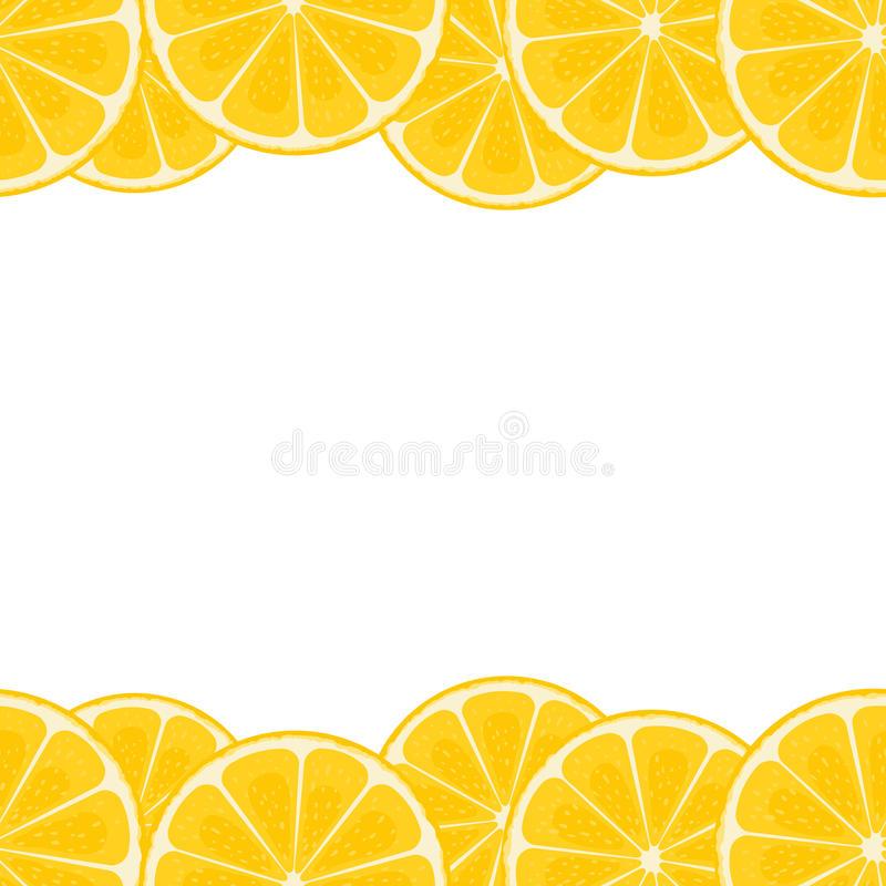 Slice Lemon Border Stock Illustrations.