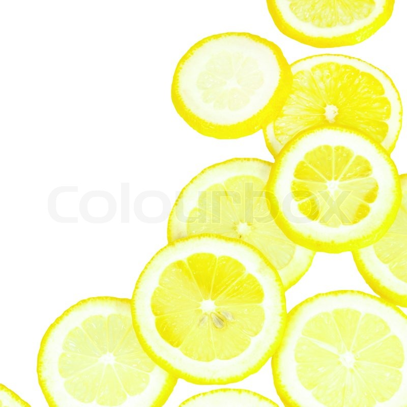Lemon Yellow Overlapped Slices Border.