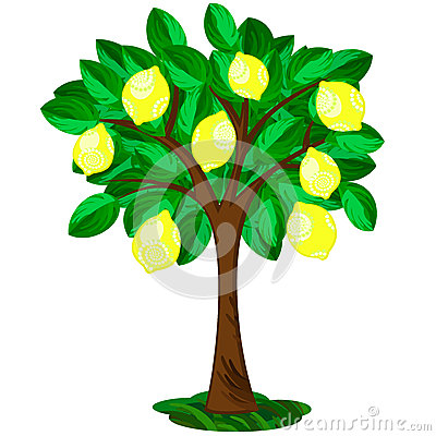 Stylized Lemon Tree Royalty Free Stock Photography.