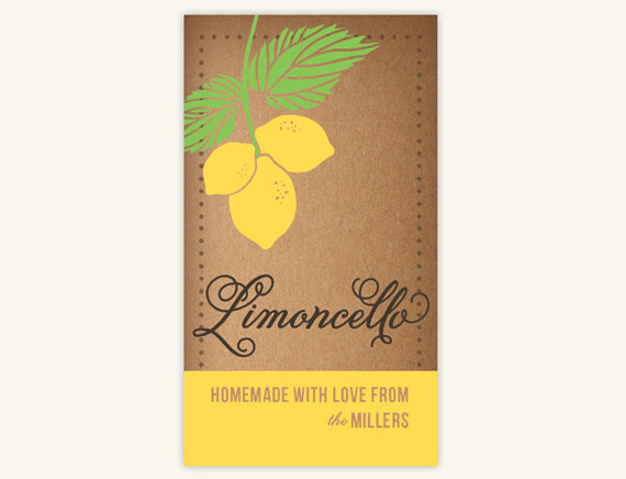 limoncello labels.