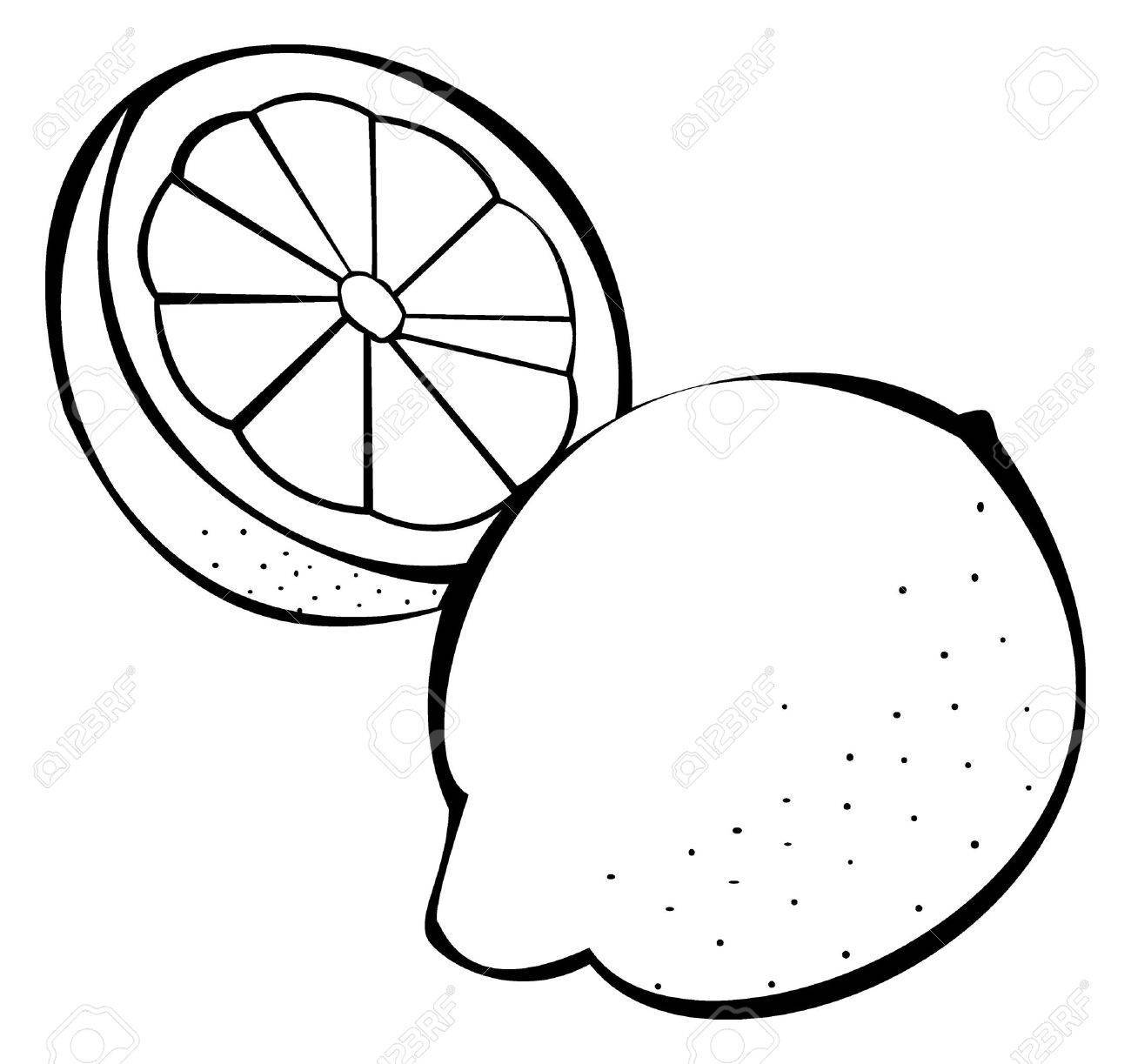 Lemon clipart black and white 1 » Clipart Portal.