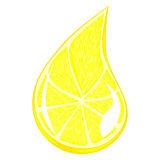Drop Lemon Stock Illustrations.