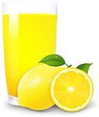 Lemon Juice Clip Art.