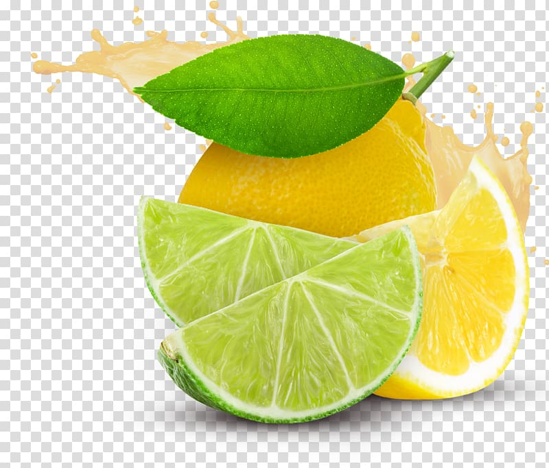 Sliced lemon and lime, Juice Lemon.