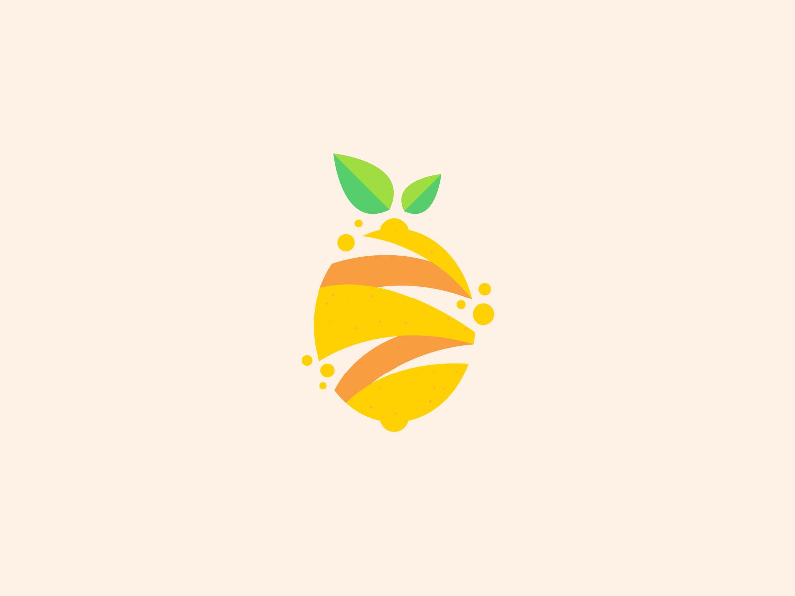Lemon Fruit modern logo design by Bojan Sandic on Dribbble.