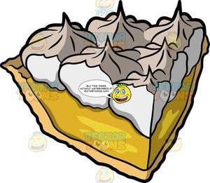 A Slice Of Lemon Meringue Pie.