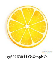 Lemon Slice Clip Art.