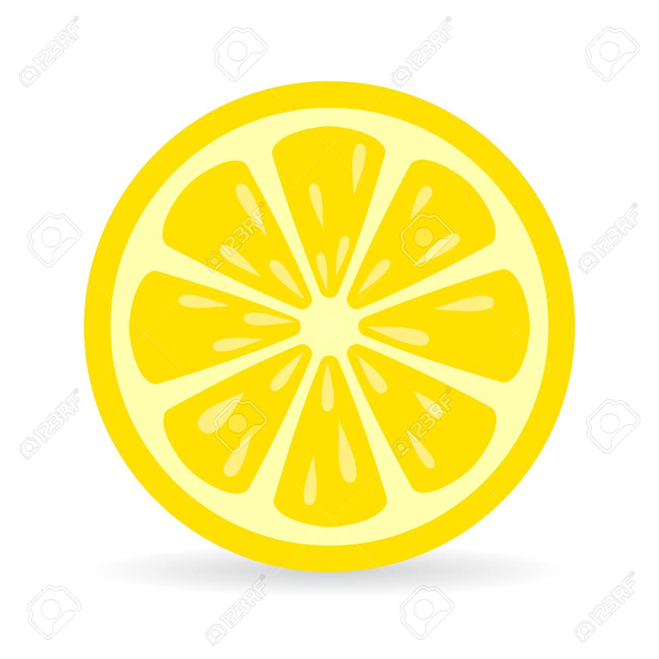 Lemon slice vector icon.