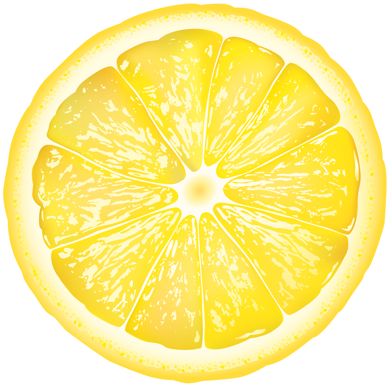 Round Lemon Slice PNG Clip Art Image.