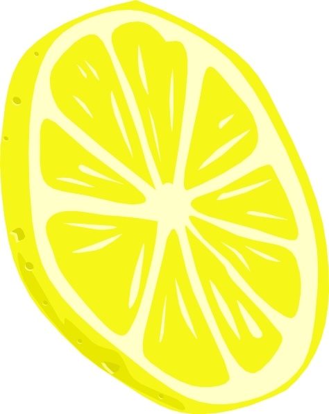Lemon (slice) clip art Free vector in Open office drawing svg.
