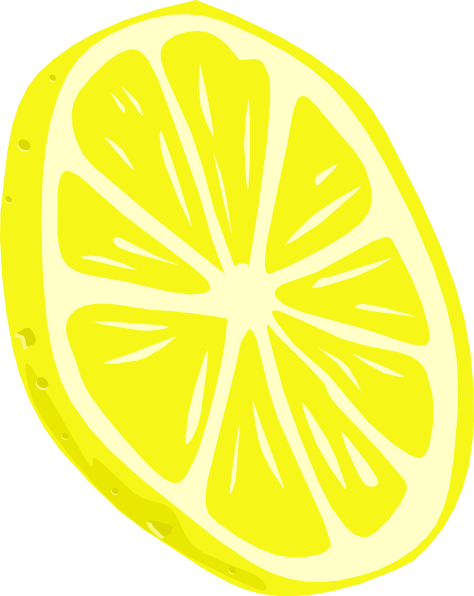 Lemon (slice) Clip Art at Clker.com.