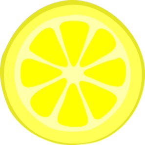 Lemon Slice Clip Art at Clker.com.