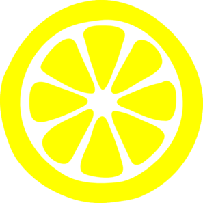 Lemon slices clipart free.