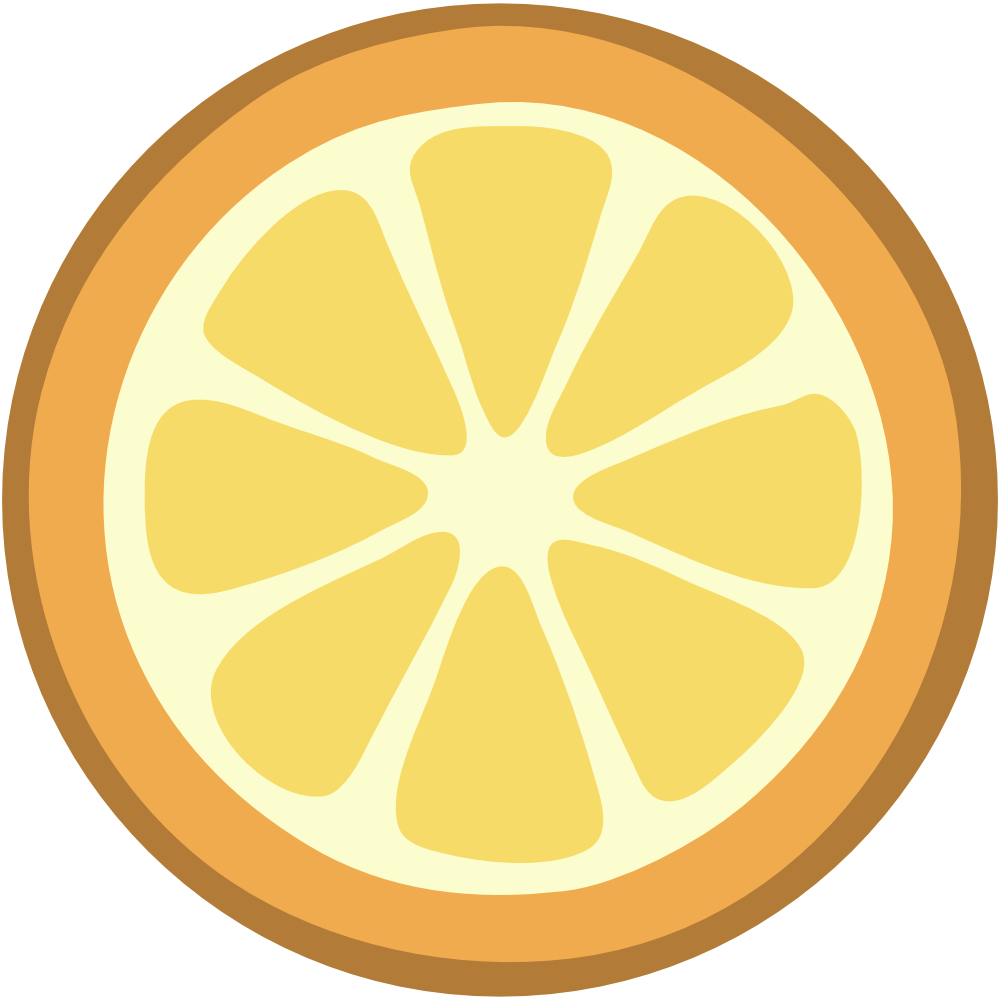 Lemon slice clip art 2.
