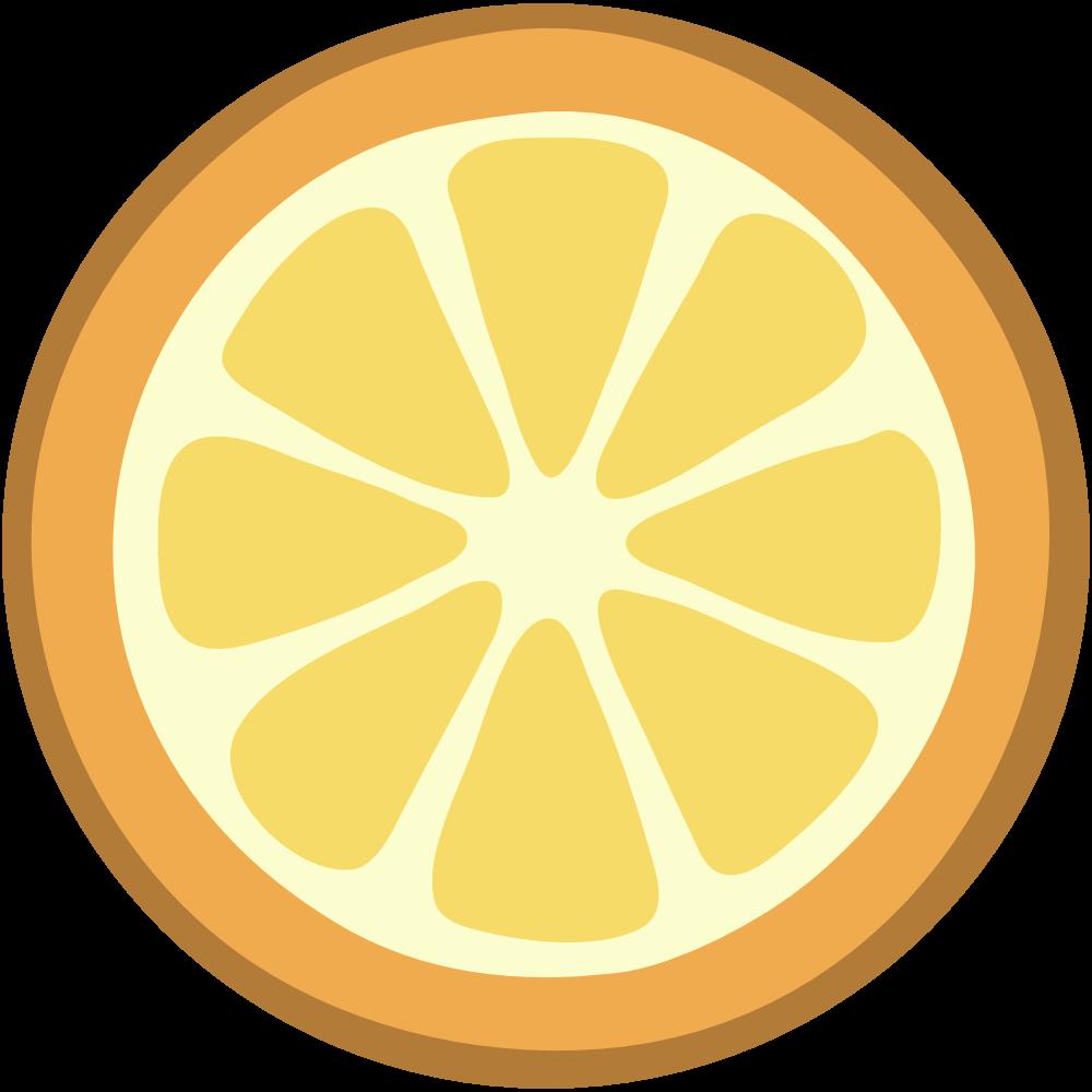 Lemon slice clip art 2.