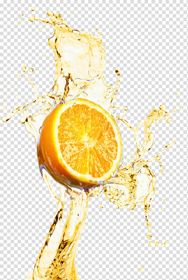 Orange juice Lemonade, Orange juice splash decoration design.
