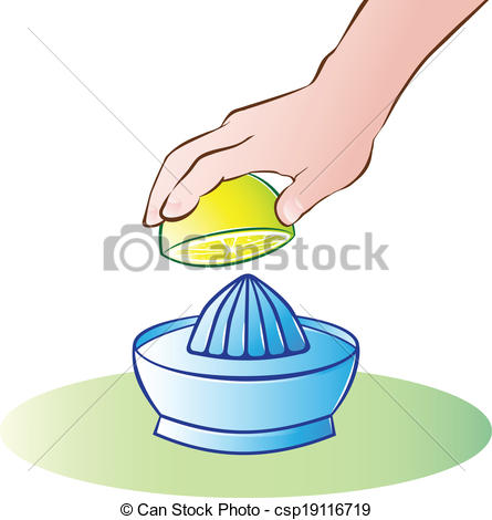 Vector Clipart of lemon squeeze.