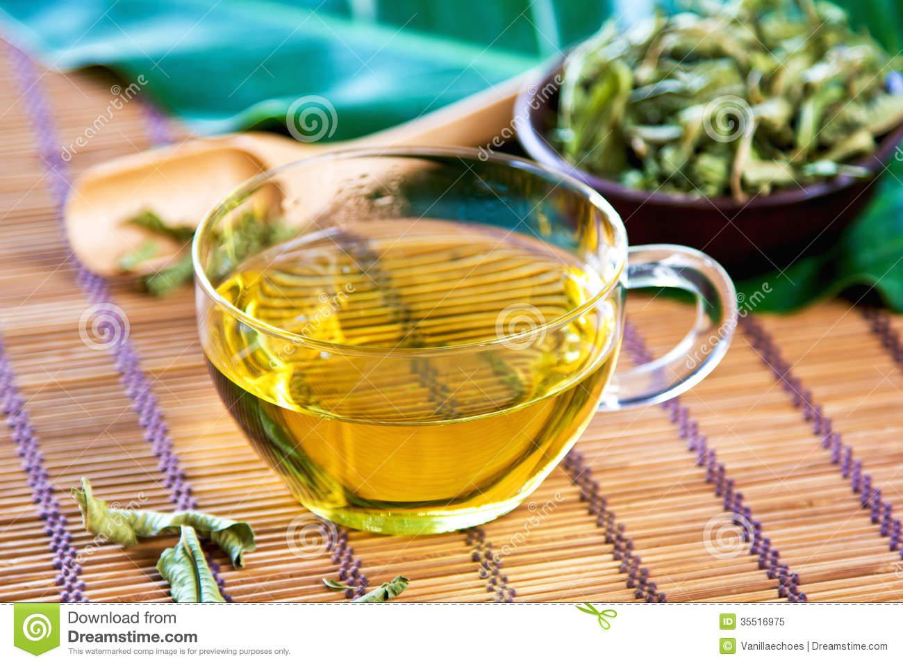 Lemon Verbena Dried Leaves Stock Photo.