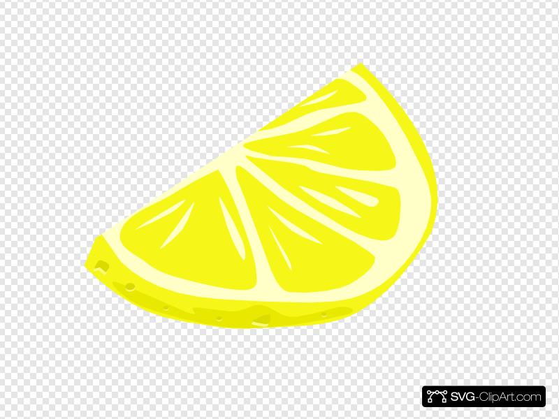 Lemon Wedge Clip art, Icon and SVG.