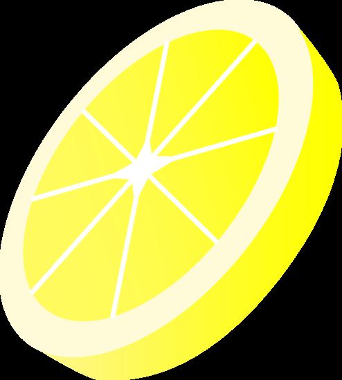 Round Yellow Lemon Slice.