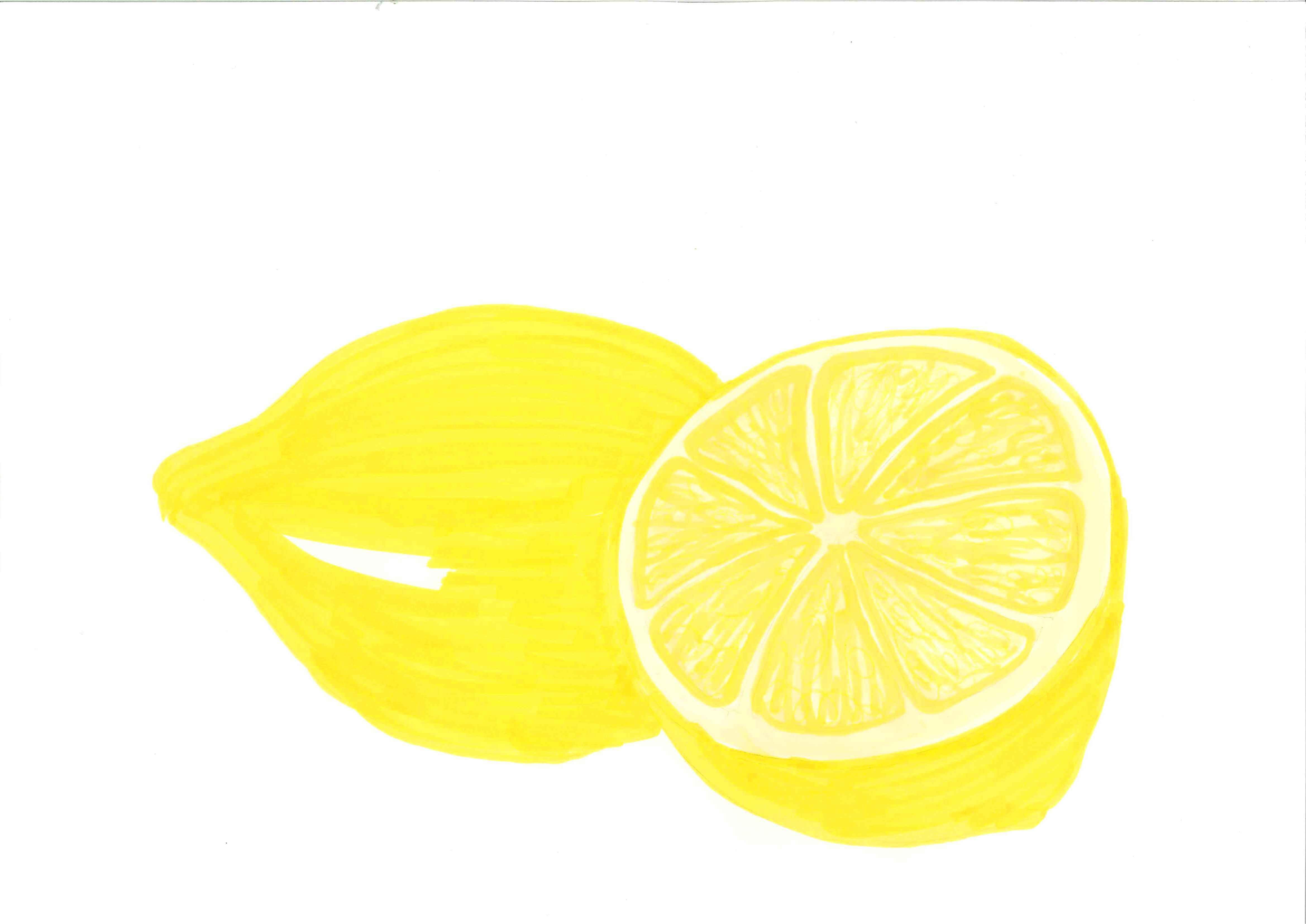 Lemon wedge clip art.