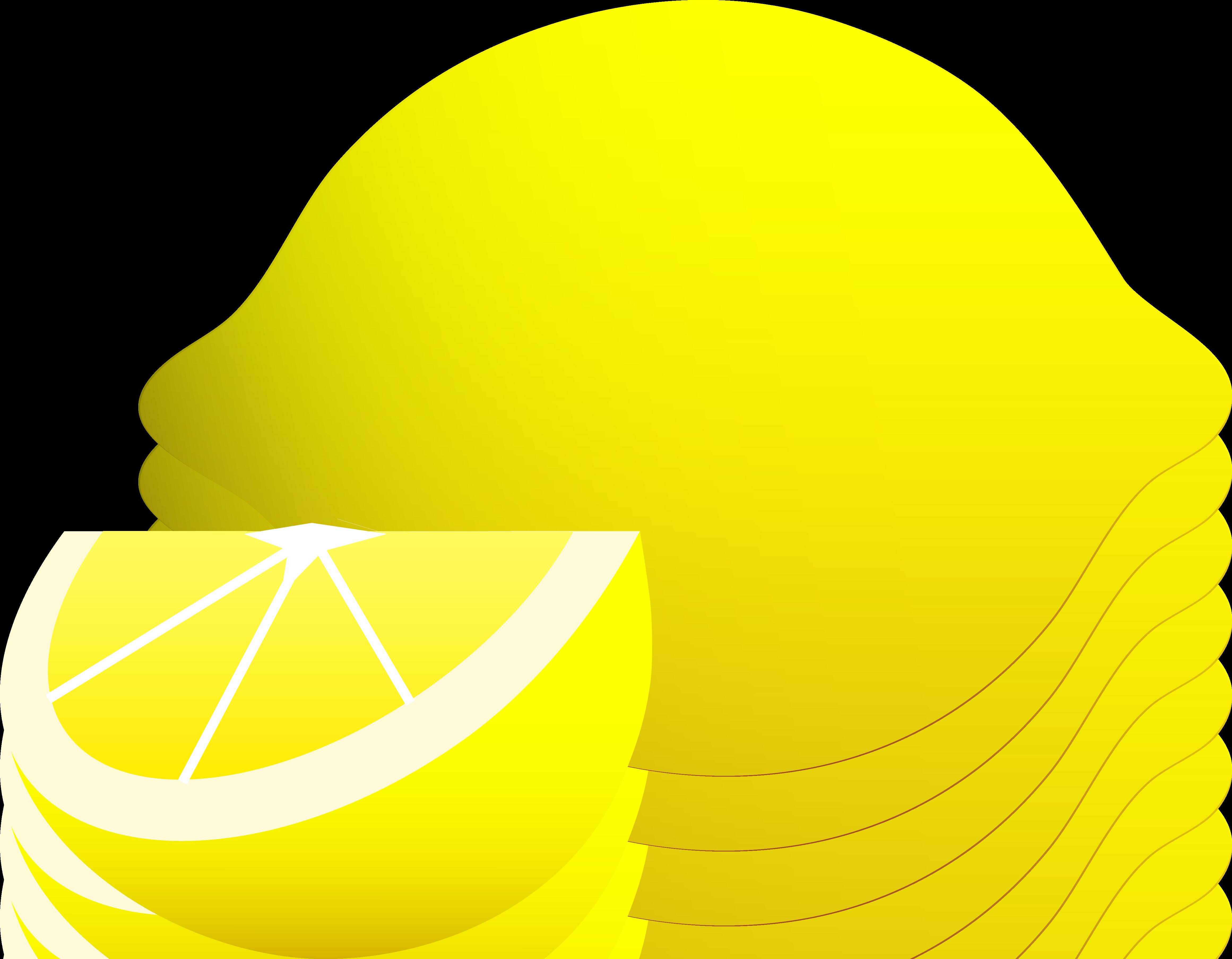Whole Lemon With Wedge.