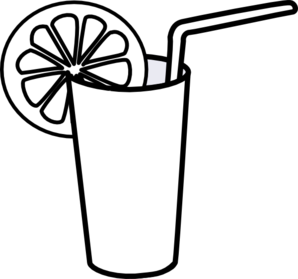 Lemonade Clipart Black And White.