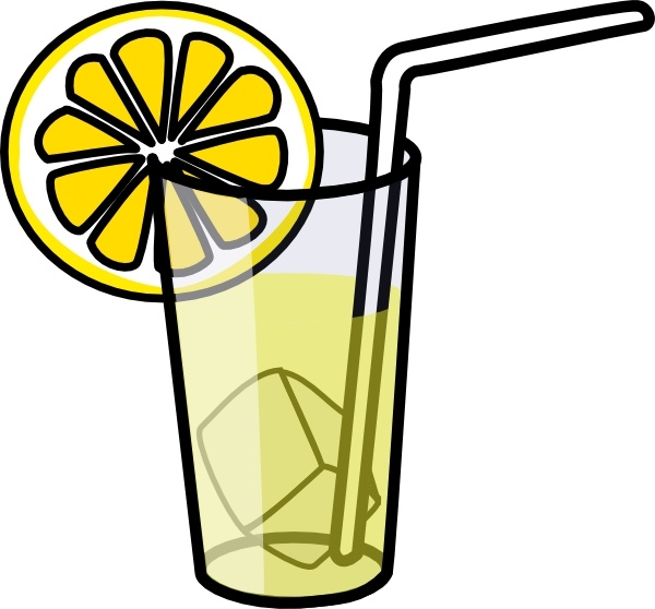 Lemonade Glass clip art Free vector in Open office drawing svg.