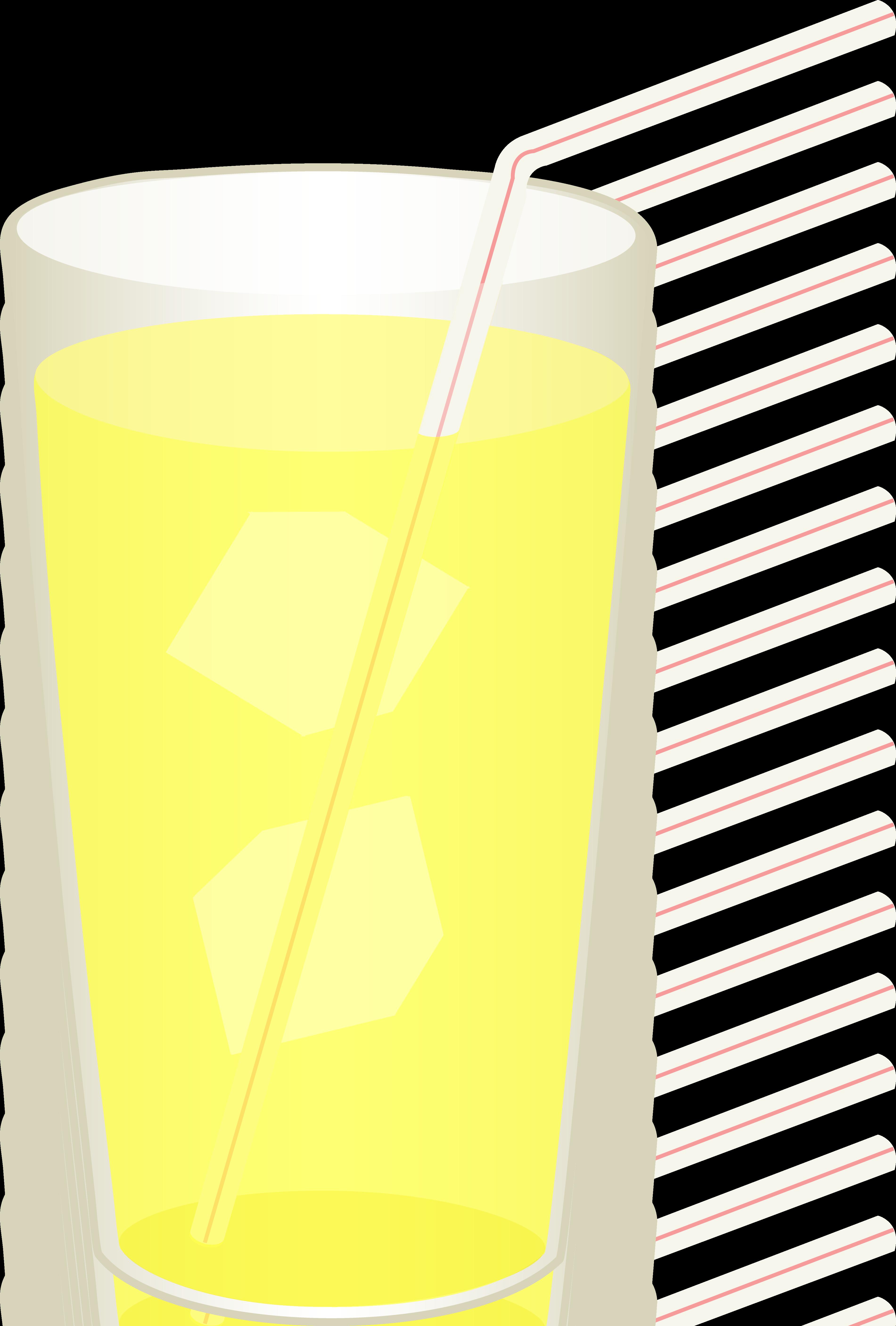 Glass of Iced Lemonade.