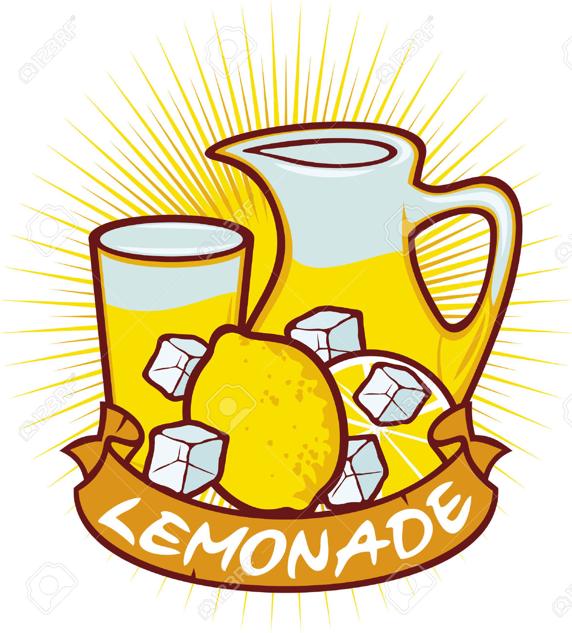 3,909 Glass Of Lemonade Stock Vector Illustration And Royalty Free.