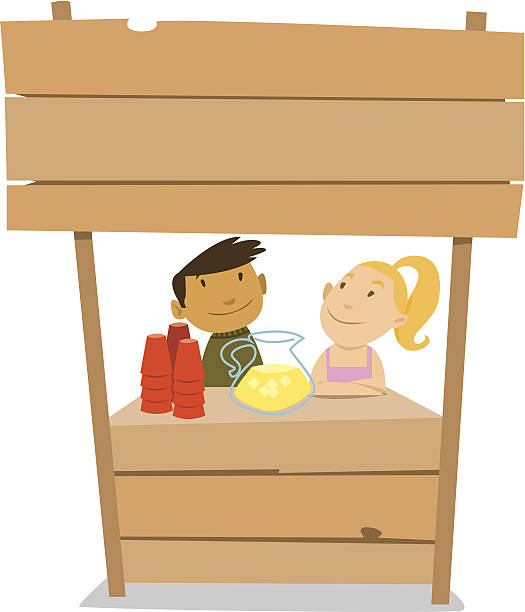 Best Lemonade Stand Illustrations, Royalty.